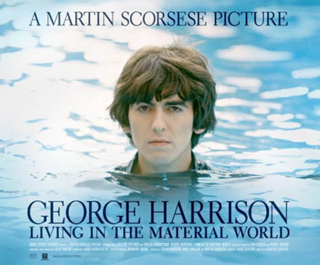 The cover of a 2011 documentary on George Harrison.