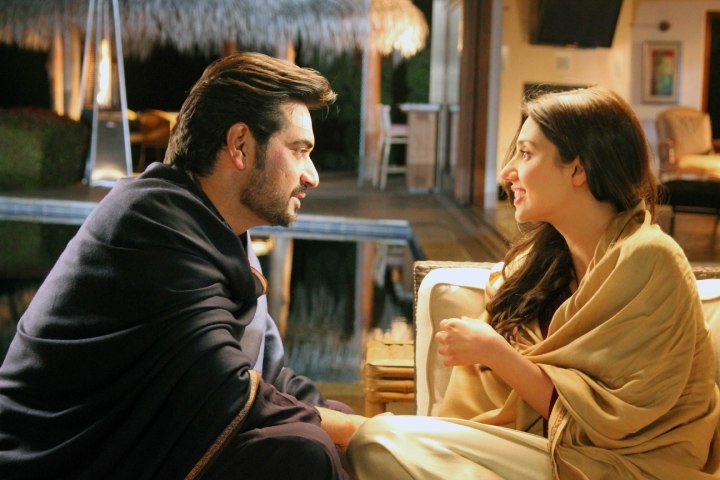 Humayun Saeed and Mahira Khan.