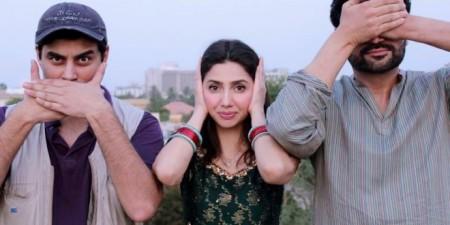 The 'Bin Roye' trio: (L-R) Haissam Hussain, Mahira Khan and Humayun Saeed.