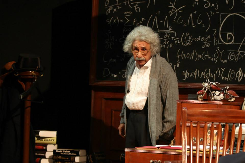 Indian actor Naseeruddin Shah in the eponymous role of Einstein, at Alhamra, Lahore.